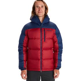 Marmot Guides Plumón con Capucha Hombre, rojo/azul
